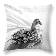 Susie Duck Throw Pillow
