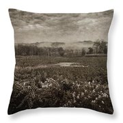 Suspended Over The Wetlands Throw Pillow