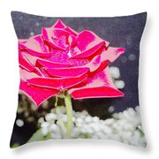 Suzannes Fantasy Rose Throw Pillow