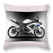 Suzuki Gsxr Throw Pillow