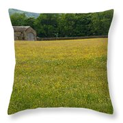 Swaledale Buttercup Meadow Throw Pillow