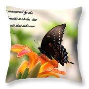 Swallowtail Card Throw Pillow