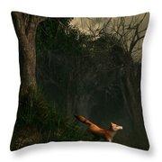 Swamp Fox Throw Pillow