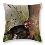 Swamp Lycaenops Throw Pillow