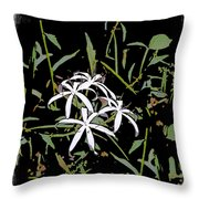 Swamplilies Throw Pillow