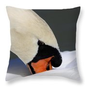 Swan - Soft And Fluffy Throw Pillow