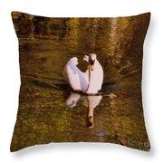 Swan At Susan Lake Throw Pillow