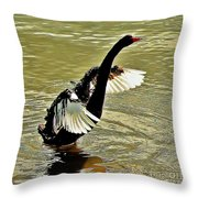 Swan Dance Throw Pillow