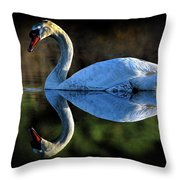 Swan Throw Pillow