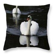 Swan Pair 2 Throw Pillow