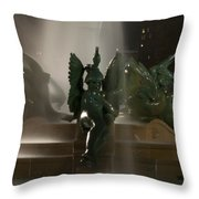 Swann Fountain At Night Throw Pillow
