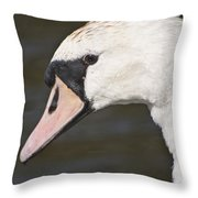 Swan's Head Throw Pillow