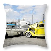 Swap Meet Plymouth And Chevy  Throw Pillow