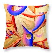 Swaying In Harmony 2 Throw Pillow