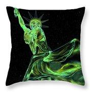 Sweat Liberty Throw Pillow