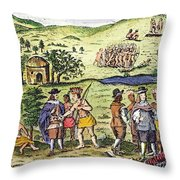 Swedish Colonists, 1702 Throw Pillow