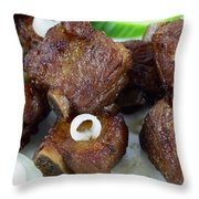 Sweet And Sour Ribs Chinese Food  Throw Pillow by Paul Ge