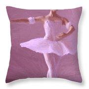 Sweet Ballerina Throw Pillow