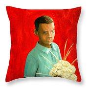 Sweet Grass Flowers Throw Pillow