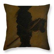 Sweet Little Rider Throw Pillow
