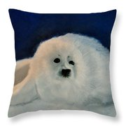 Sweet Little Winter Seal Pup Of My Soul Throw Pillow