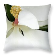 Sweet Magnolia Flower Throw Pillow