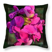 Sweet Pea Pop Out Photoart Square Throw Pillow