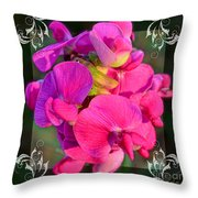 Sweet Pea Pop Out Square Throw Pillow