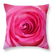 Sweet Pink Rose IIi Throw Pillow