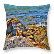 Sweet Splashes Throw Pillow