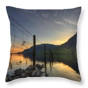 Sweet Wave Of Sunset Throw Pillow
