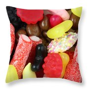 Sweets And Candy Mix Throw Pillow