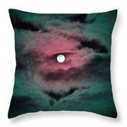 Swim To The Moon Throw Pillow