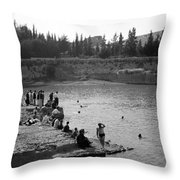 Swiming Time 1945 Throw Pillow