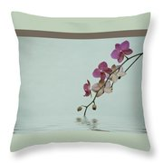 Swimming Orchids Throw Pillow