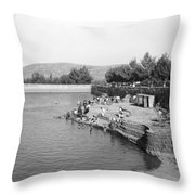 Swimming Resort  Throw Pillow