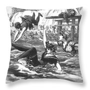 Swimsuits, 1892 Throw Pillow