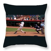 Swing And A Miss Throw Pillow