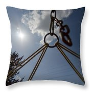 Swinging In A Hammock Throw Pillow