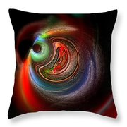Swirl Of Colors Throw Pillow