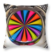 Swirled Color Throw Pillow