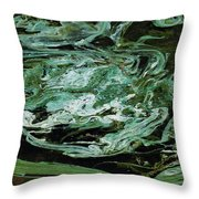 Swirling Algae Throw Pillow