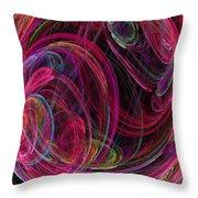 Swirling Energy Throw Pillow