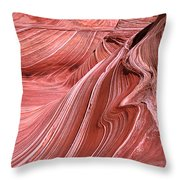 Swirling Sandstone Throw Pillow
