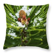 Swirls Of Green Throw Pillow