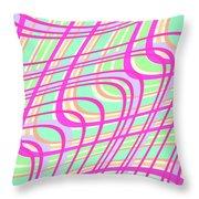 Swirly Check Throw Pillow