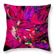 Swirly Fabric Flower Throw Pillow by Judi Bagwell