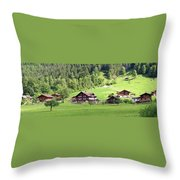 Swiss Village In The Alps Throw Pillow