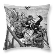 Switchback Railway, 1886 Throw Pillow
