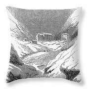 Switzerland: Convent, 1843 Throw Pillow